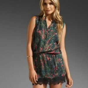 Haute Hippie Silk Lace-Hem Dress Sleeveless Mini